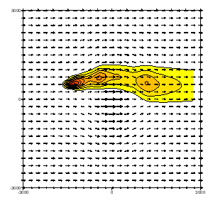 Exemple de l'effet d'une colline sur la dispersion atmosphérique 01