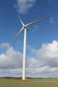 Éolienne aux Grandes Ventes, Seine-Maritime, France