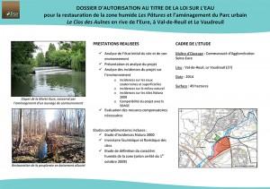 Restauration d'une zone humide et aménagement d'un parc urbain sur les rives de l'Eure (27)