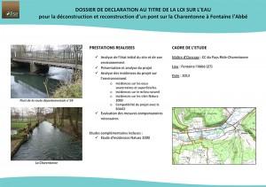 Déconstruction / reconstruction d'un pont sur la Charentonne (27)